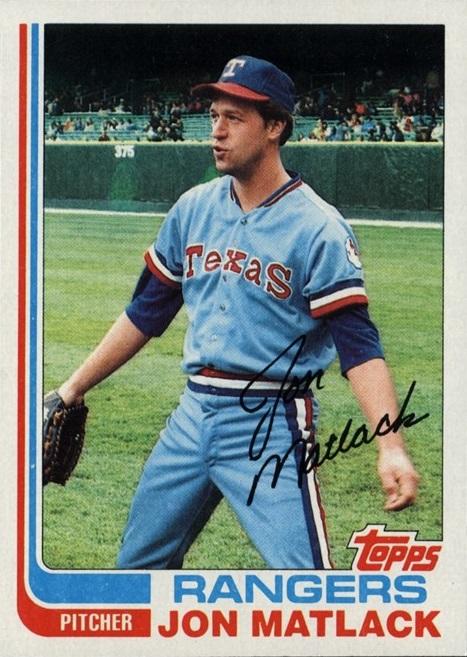 1982 Topps Jon Matlack