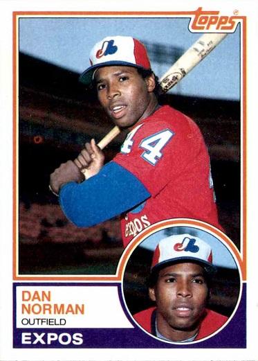 1983 Topps Dan Norman