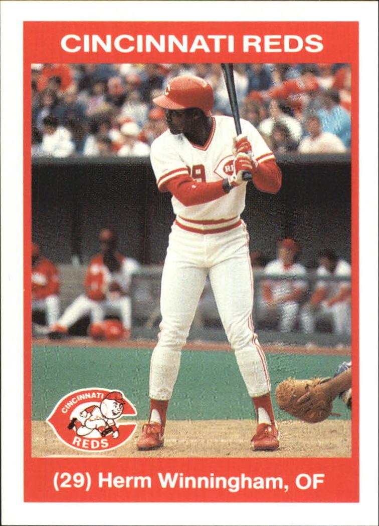 1990 Kahn's Cincinnati Reds Herm Winningham