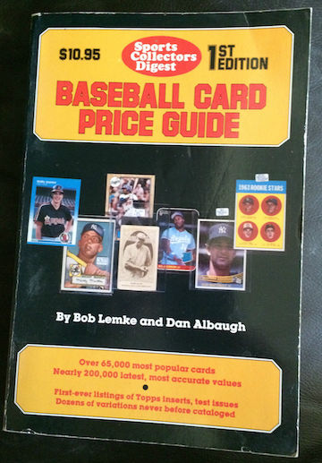 1987 sports collectors digest baseball card price guide 1st edition