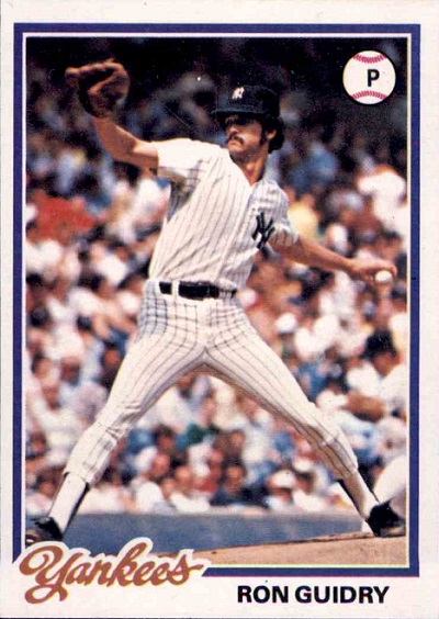 1978 Topps Ron Guidry