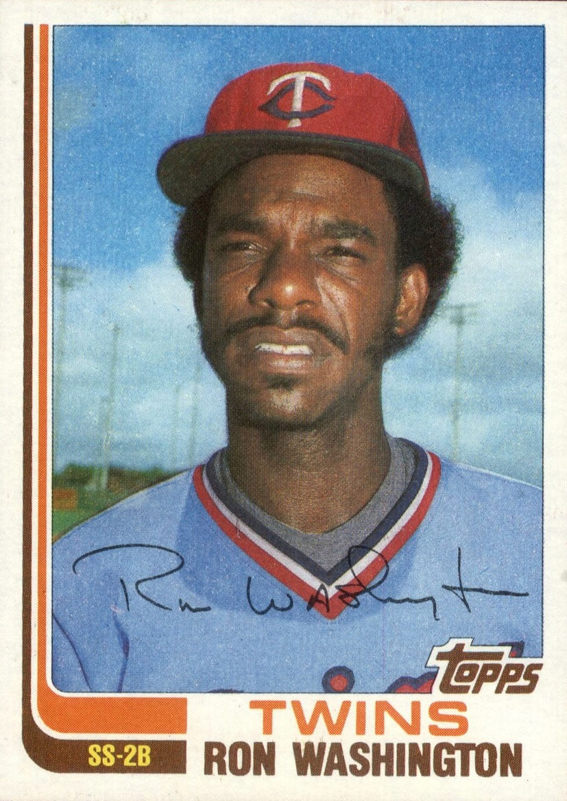 1982 Topps Traded Ron Washington