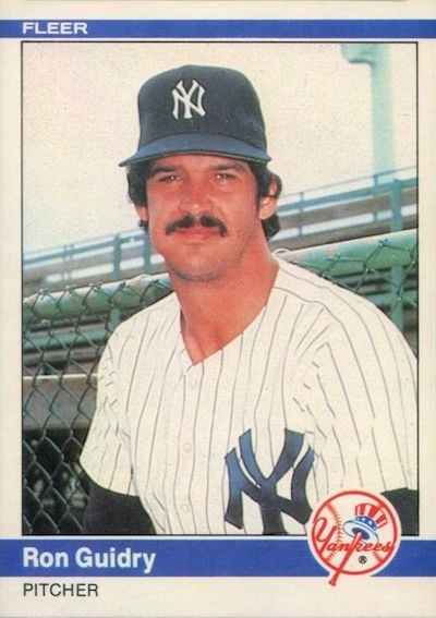1984 Fleer Ron Guidry
