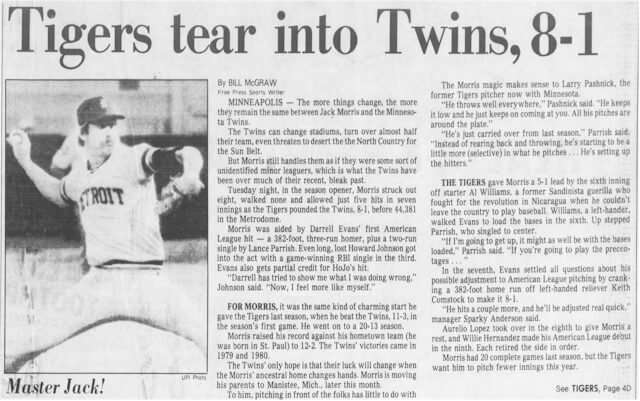 1984-detroit-free-press-opening-day-detroit-tigers