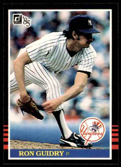 1985 Donruss Ron Guidry