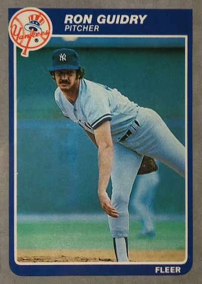 1985 Fleer Ron Guidry