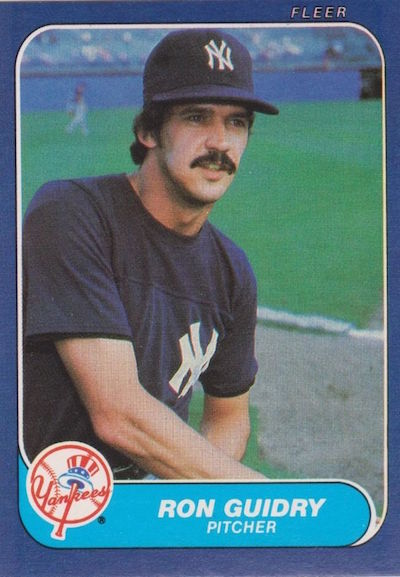 1986 Fleer Ron Guidry
