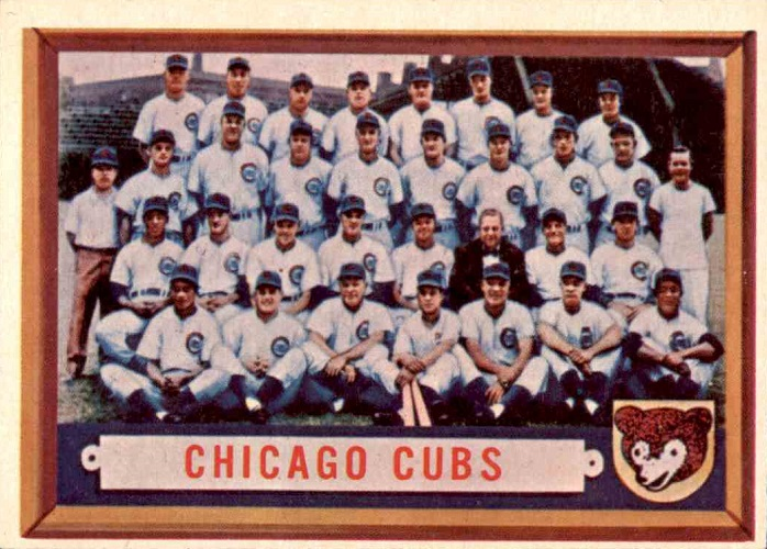 1957 Topps Chicago Cubs Team Card