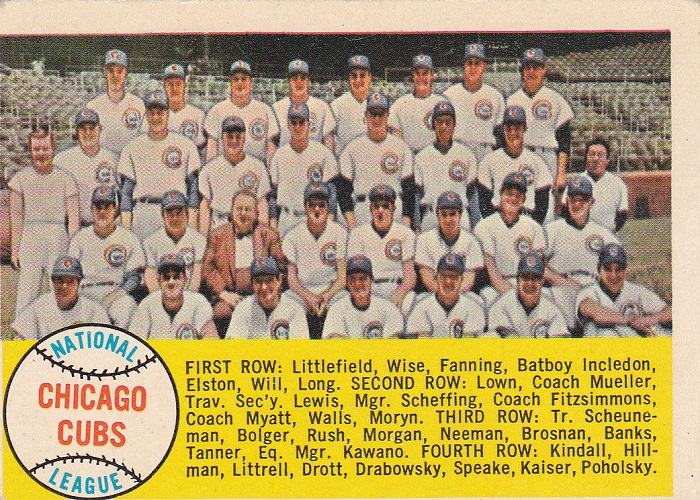 1958 Topps Chicago Cubs Team Card
