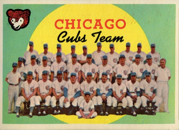 1959 Topps Chicago Cubs Team Card