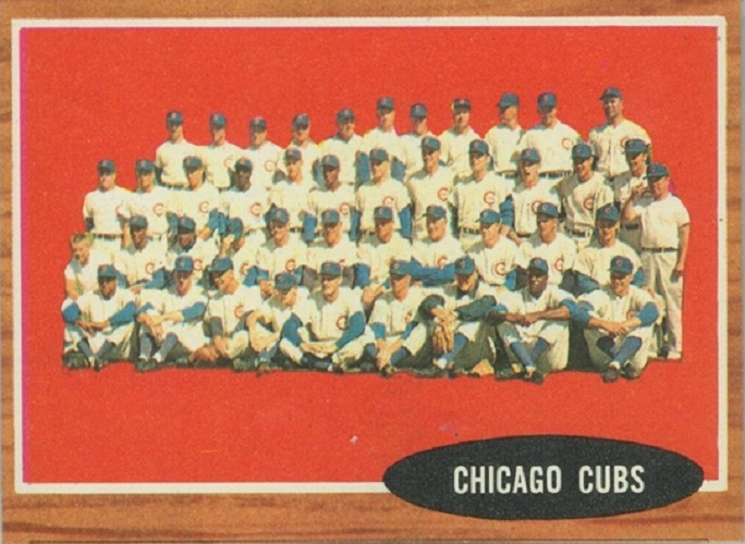 1962 Topps Chicago Cubs Team Card
