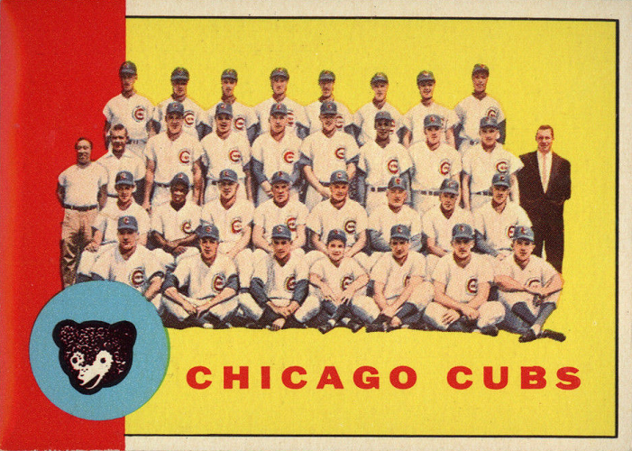 1963 Topps Chicago Cubs Team Card