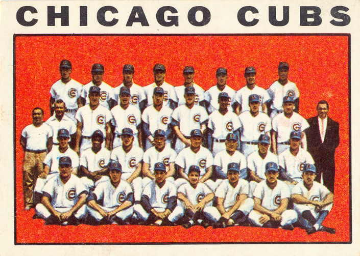 1964 Topps Chicago Cubs Team Card