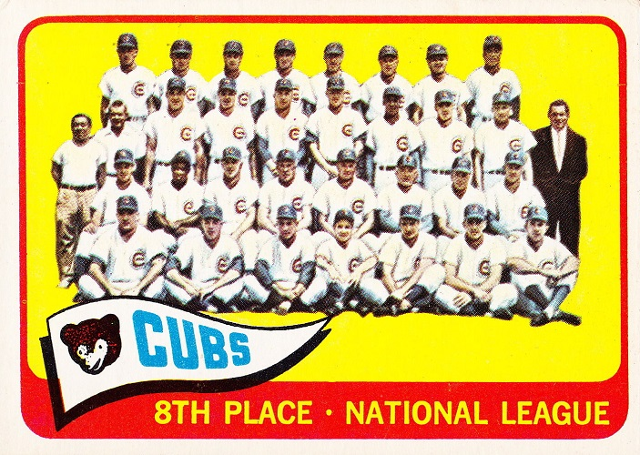 1965 Topps Chicago Cubs Team Card
