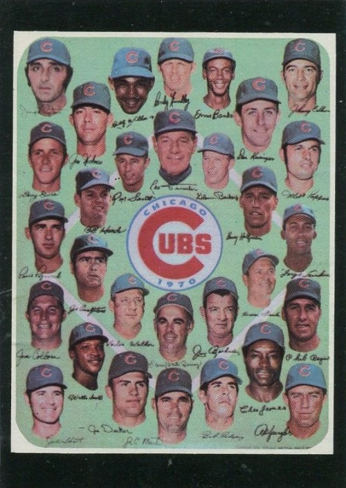 1971 Topps Chicago Cubs Team Card