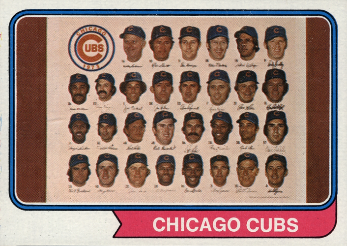 1974 Topps Chicago Cubs Team Card