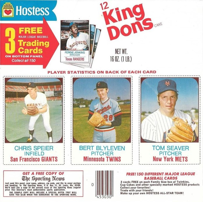 1975 Hostess Baseball Cards Box