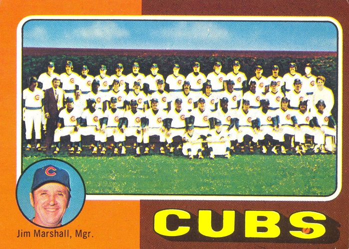 1975 Topps Chicago Cubs Team Card