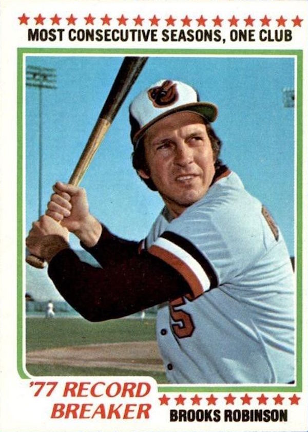 1978 Topps Brooks Robinson Record Breaker