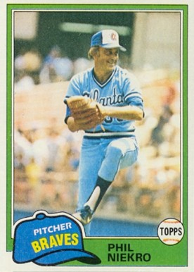 1981 Topps Phil Niekro