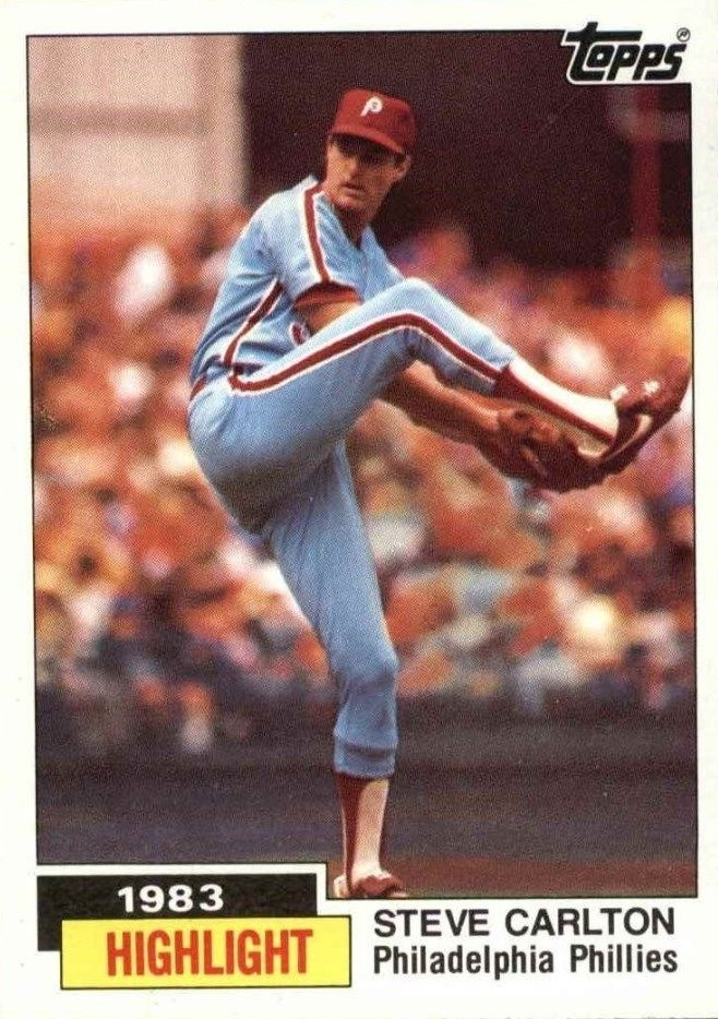 1984 Topps Steve Carlton Highlight