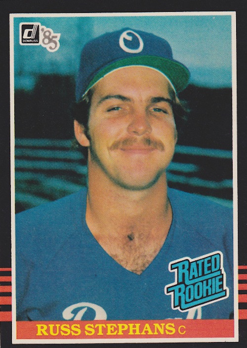 1985 Donruss Rated Rookies Russ Stephans