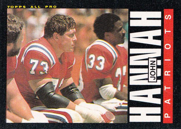 1985 Topps John Hannah