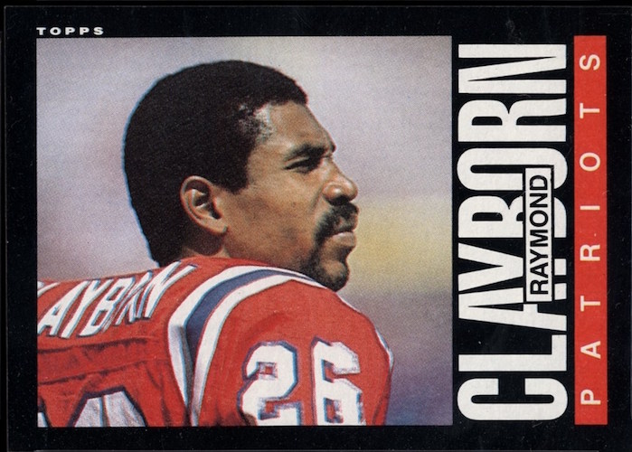 1985 Topps Raymond Clayborn