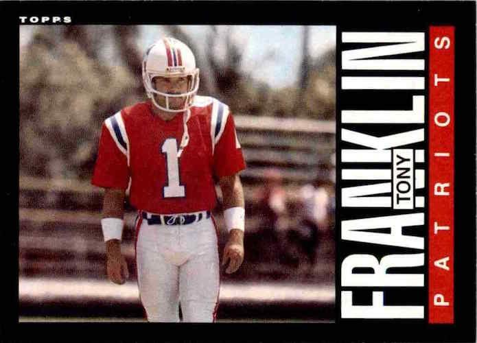 1985 Topps Tony Franklin