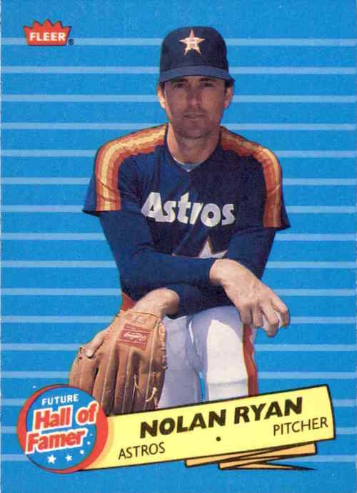 1986 Fleer Future Hall of Famer Nolan Ryan