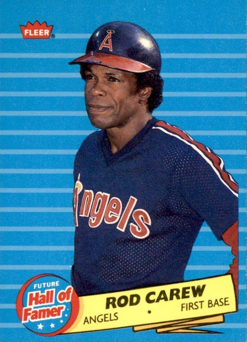 1986 Fleer Future Hall of Famer Rod Carew