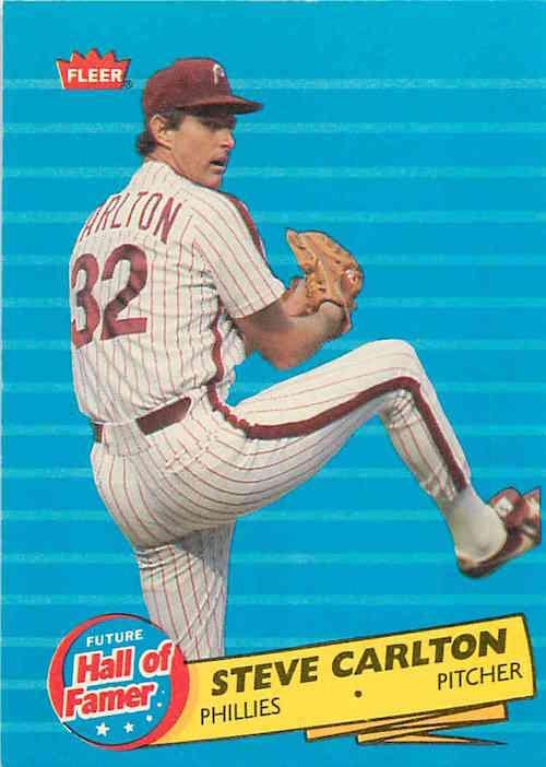 1986 Fleer Future Hall of Famer Steve Carlton
