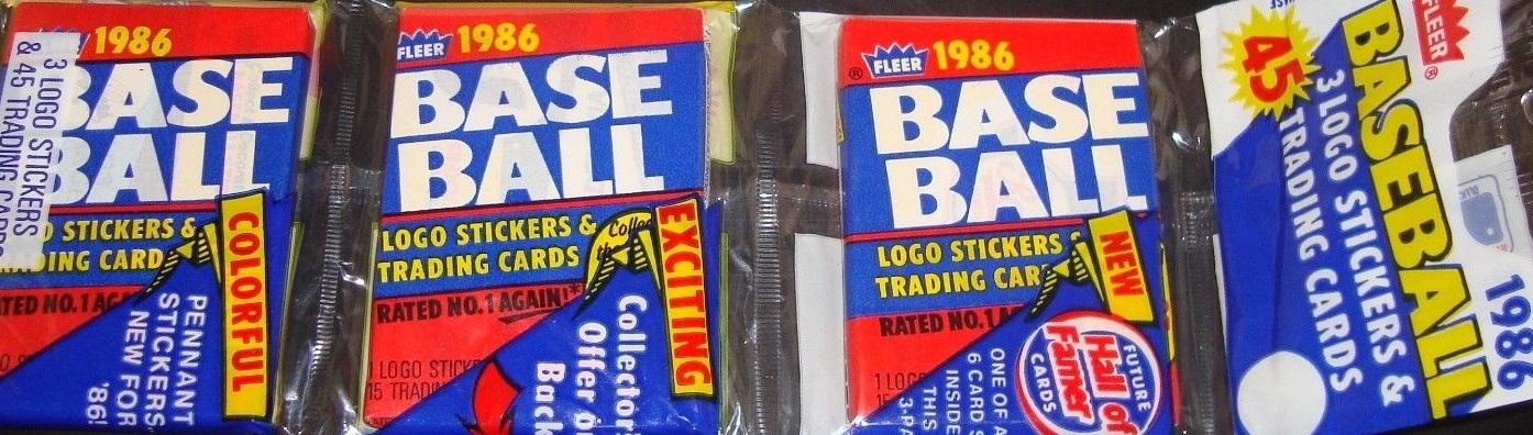 1986 Fleer Rack Pack
