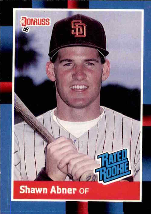 1988 Donruss Rated Rookies Shawn Abner