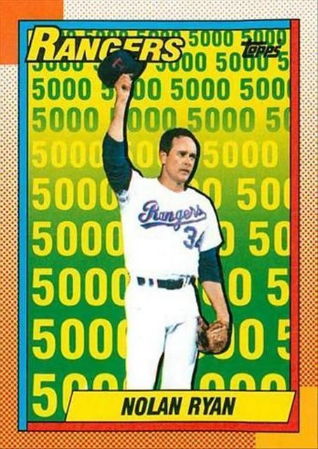 How To Find The 1990 Topps Nolan Ryan 5000 Strikeout Card Value