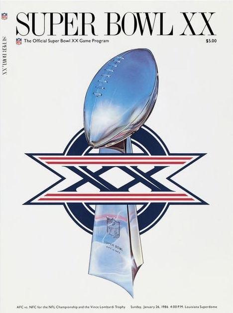 Super Bowl XX Program