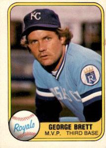 1981 Feer George Brett MVP