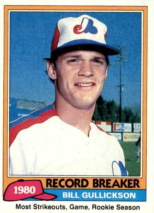 1981 Topps Bill Gullickson Record Breaker
