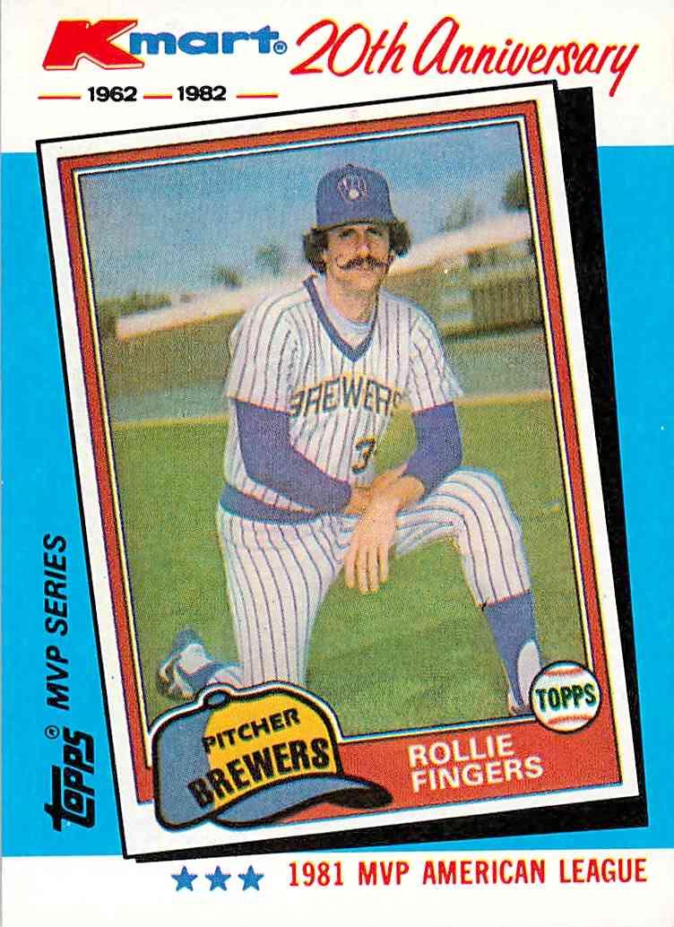 1982 Topps Kmart 1981 Topps Traded Rollie Fingers