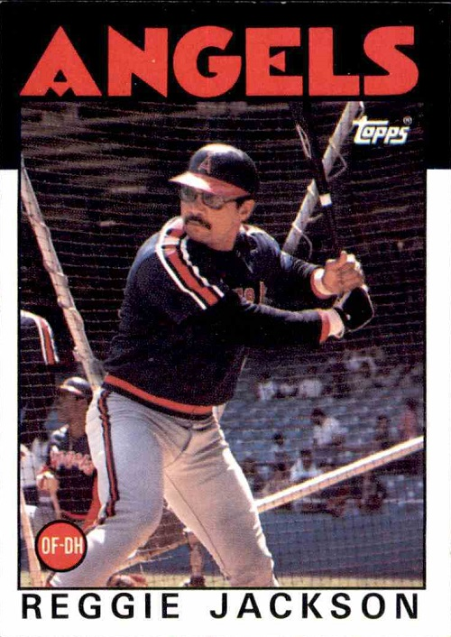 1986 Topps Reggie Jackson