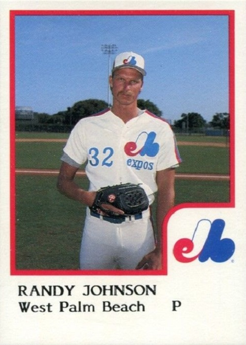 The First Randy Johnson Baseball Card Was A Blank Slate