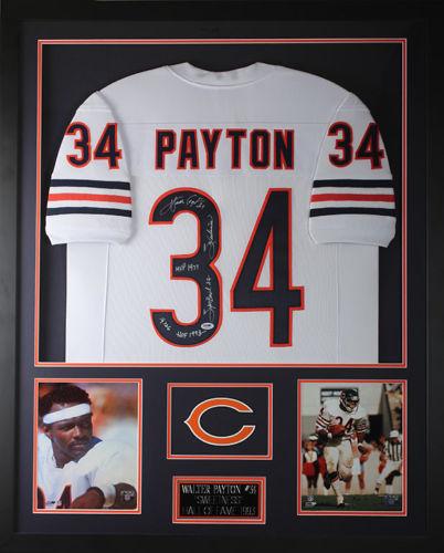 Walter Payton Autograph Jersey Framed