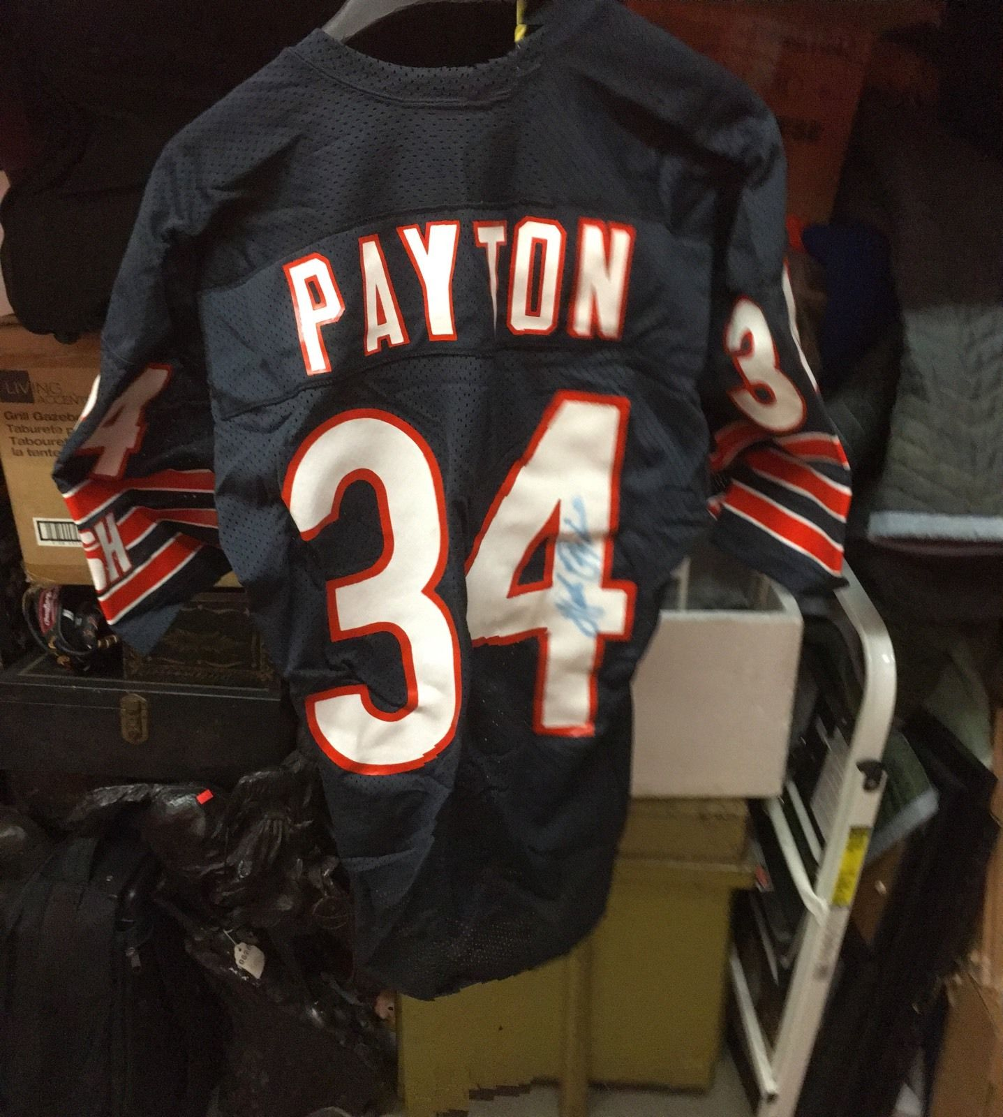 fb5b5e20388 Walter Payton Chicago Bears Game Used Signed Jersey Circa 1984-86 PSA/DNA  Authentication. Walter Payton Autograph Jersey