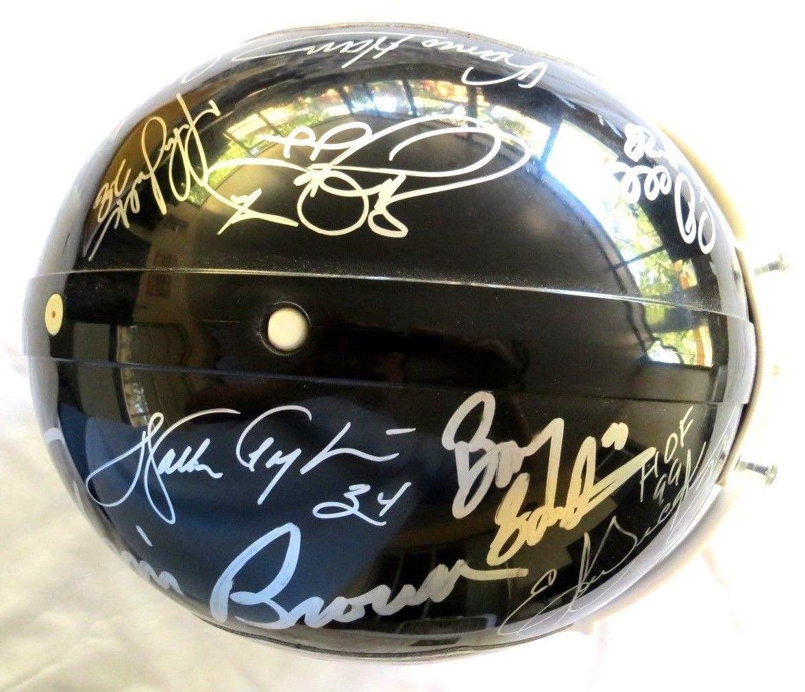 Walter Payton Autographed Helmet - Jim Brown