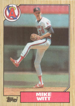 1987 Topps Mike Witt