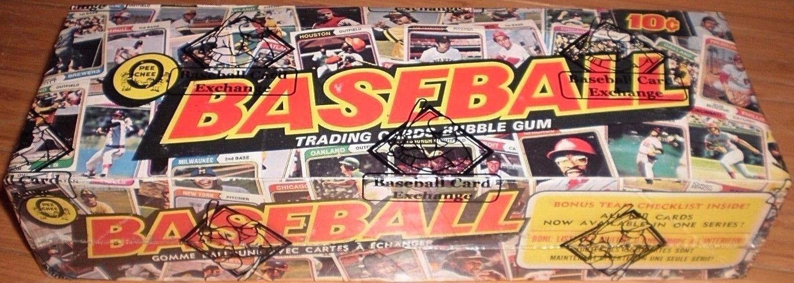 1974 O-Pee-Chee Baseball Cards Unopened Wax Box