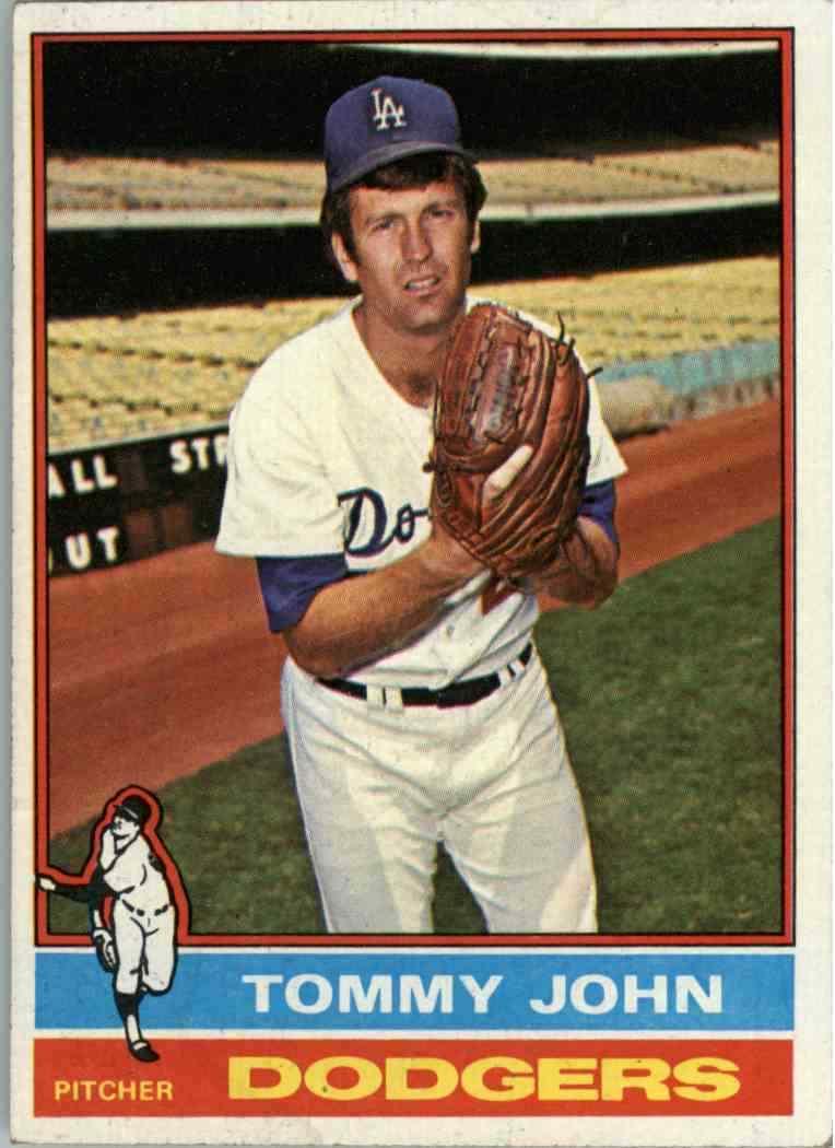 1976 Topps Tommy John
