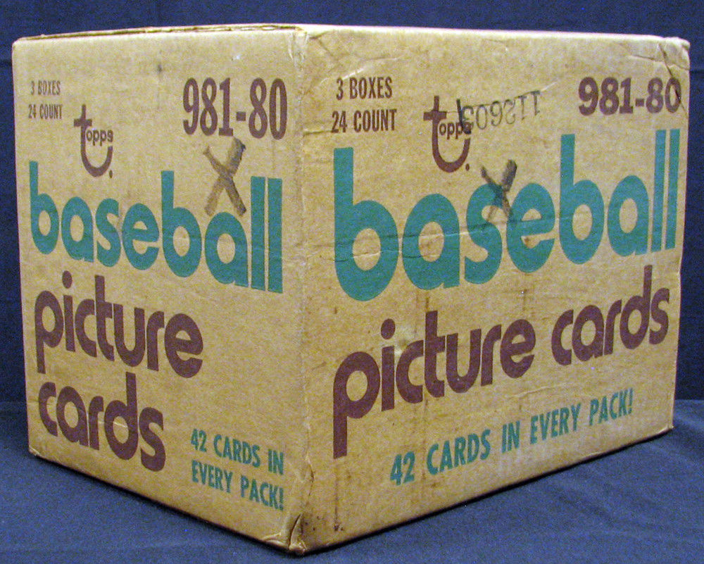 1980 Topps Baseball Cards Unopened Rack Case
