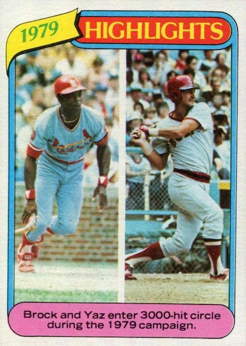 1980 Topps Brock and Yaz 1979 Highlights