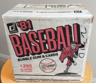 1981 Donruss Baseball Unopened Wax Case